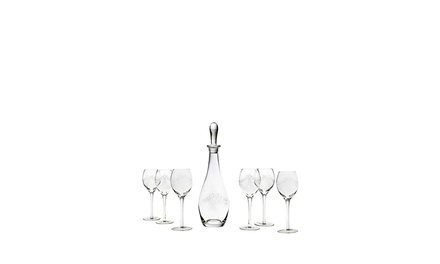 GODINGER 7-Piece Etched Wine Set