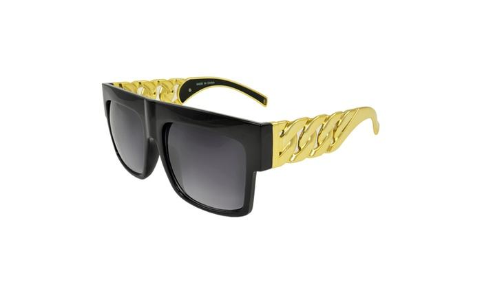 MLC Eyewear 'Chunky Crystal' Square Fashion Sunglasses