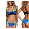 Niveltm Women's Zipper Bandage Push up Bikini Set