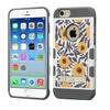Insten Tuff Flower Bush Layer Silicone Case For iPhone 6 Orange Gray