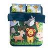 Home Textile Cartoon Happy Animals Kids Students Bedding Set