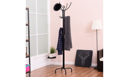 Costway 78'' Metal Coat Rack Free Standing Tree Hat Umbrella Holder