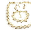 Classic Imitation Pearl Gold-Color Necklace jewelry Set for Women