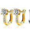 18K White Gold Plated Huggie Earrings