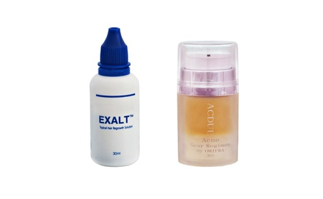 Omiera Labs Exalt Hair Growth Serum and Acdue Acne Treatment 2 pc Set ee092789-499b-478b-8a60-198a16555eb0