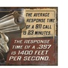 Rivers Edge Response Time Heavy Metal Sign 12in x 15.5in