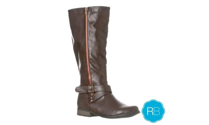 Riverberry Women's 'Sophia' Knee-High Riding Boot, Dark Brown