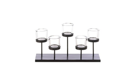5 Cups Staggered Candleholder 93c26f89-bff2-468c-9cd4-1926369b31b3