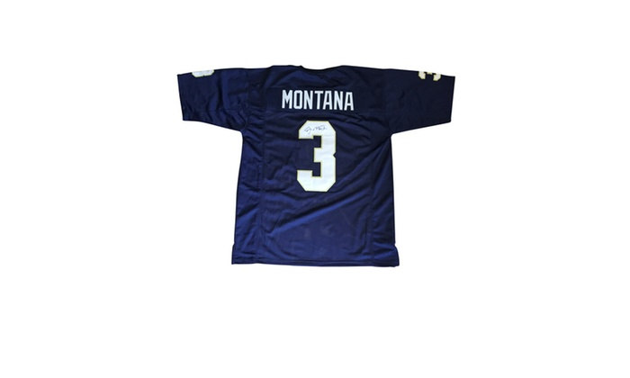 hot sale online 02ad9 0f2e8 Joe Montana Autographed Green Custom Jersey - Notre Dame Fighting Irish