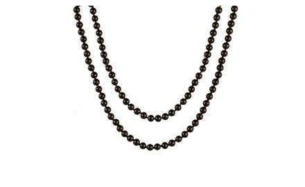 Perlita Collection Black Pearl Necklae 30 Inch