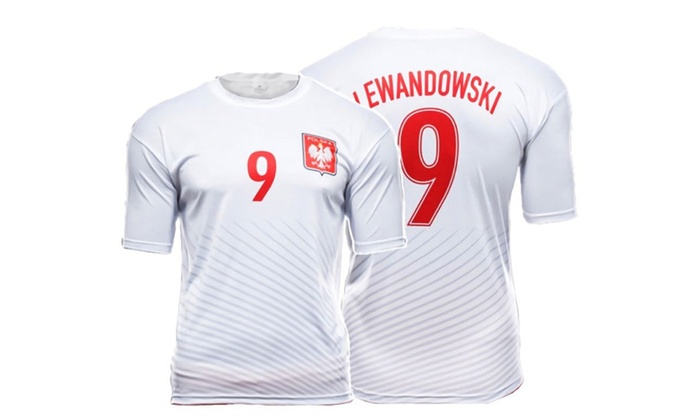 the latest 48e0e 6b73b Polska Robert Lewandowski #9 Replica Polish Soccer Jersey Poland Pride