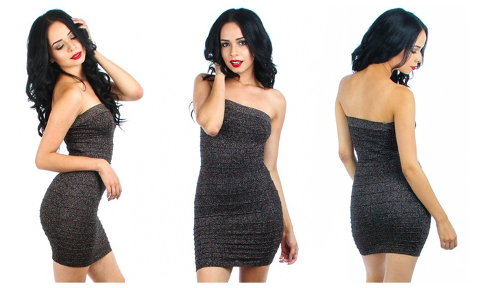 metallic sweater tube dress groupon 12191 | c700x420