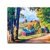 David Lloyd Glover Road to Jenne Farm Vermont  Canvas Print