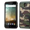 Insten Camouflage Hard Silicone Case For ZTE Prestige Green Black