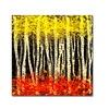 Roderick Stevens White Aspens 2 Canvas Print