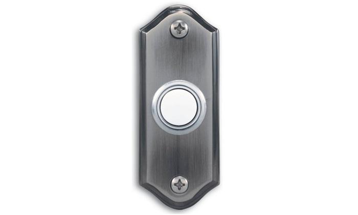 Doorbell Pewter Lit