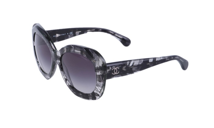 75b5d59d New Authentic CHANEL 5323 Black Butterfly Tweed Pattern Sunglasses ...