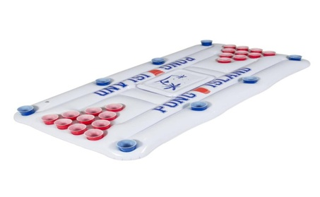 Inflatable Beer pong W/ Cooler Floating Island Lounge Pool Party db09c6f2-12e2-4cc1-826c-8bd07ba019a6