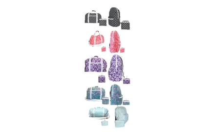 "Set Foldable Travel Duffel Bag 26"" and Backpack 13"" Multi Color Super Lightweight"