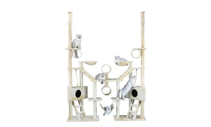 "GoPetClub 106"" Beige Cat Tree Condo Furniture"