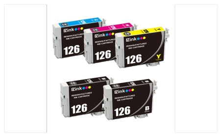 5-Pack Epson 126 T126 Replacement Printer Ink Cartridges
