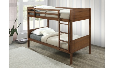 Soho Solid Rubberwood Twin Sized Bunk Bed