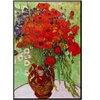 Vincent Van Gogh Still Life Red Poppies and Daisies Art Print Poster