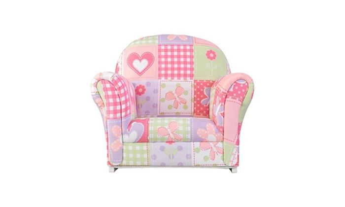 Kidkraft Upholstered Erfly Pattern Rocker Chair