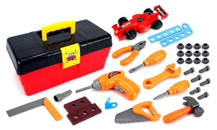 Toy Tool Set : Vt my first tool box kid s pretend play toy work shop