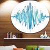 Blue Circled Waves' Abstract Circle Metal Wall Art
