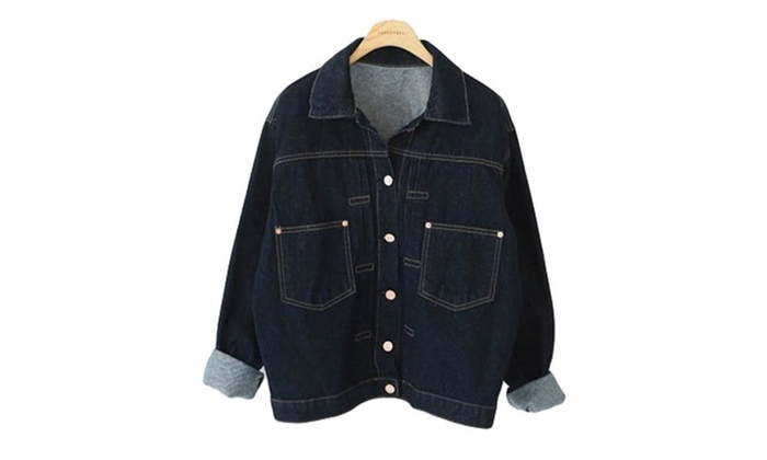 Women's Leisure Button Down Denim Jackets
