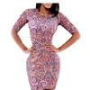 Women's Sexy Bodycon Package Hip Short Sleeve Nightclub Midi Dress