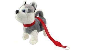 Husky Puppy' Walking Plush Dog, Dancing/Walking Action, Music(Colors Vary)