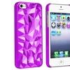 Insten Snap-on Case For Apple iPhone 5 / 5s, Clear Purple Diamond Cut