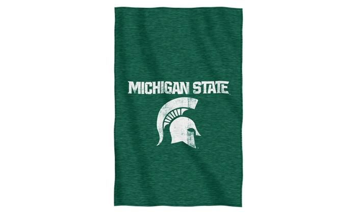 COL 100 Michigan State Sweatshirt Throw