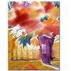 Sheila Golden Ochre Wall Canvas Print