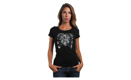 Heart Skeleton T Shirt