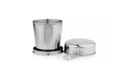 60ml Stainless Steel Folding Cup Traveling Outdoor Camping Mug ddb44312-190b-47d0-bbdc-e8627b8f0428