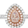 Genuine Pink Diamond Ring