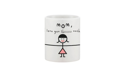 Cute Ceramic Coffee Mug for Mom - Mom, I Love You Thiiiiiis Much - Mother's Day Gift Idea