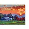 David Lloyd Glover The Sun Sets Over The Hill Canvas Print