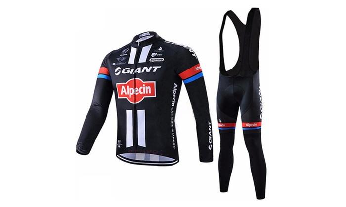Giant Black Cycling Long Sleeve Jersey Cycling Clothing Bike Jersey