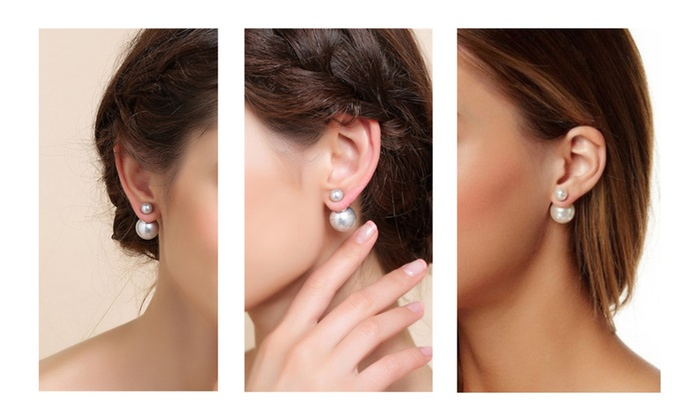 182dd8c826234 Double sided ball stud earrings | Groupon