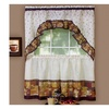 """Coffee Tier Pair 36""""x57"""" and Swag 30""""x57"""" Set- Brown"""