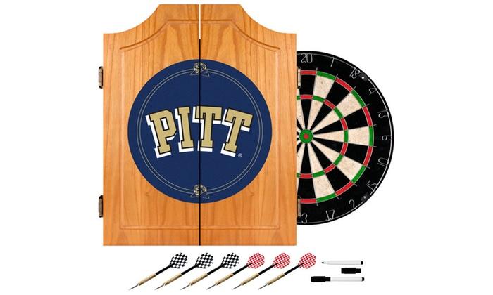 University of Pittsburgh Dart Cabinet Set