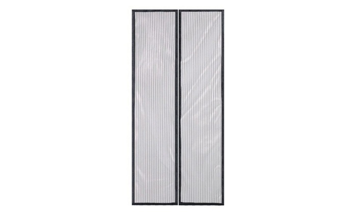 Up to 53 off on magic mesh hands free magneti for Magnetic screen door home depot