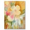 Sheila Golden Ochre Garden View Canvas Print