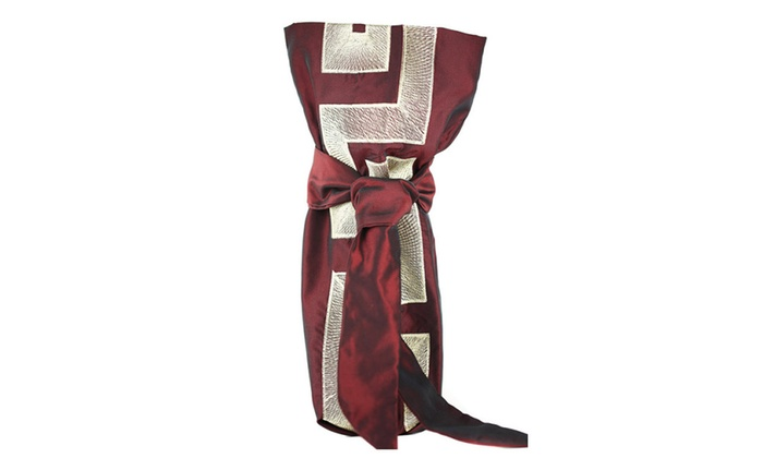 Versace Fabric Gift Bag High End Collection Mahogany Gold And Tie