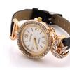 Women Fashion Moon & Star Pendant Rhinestone Quartz Wristwatches