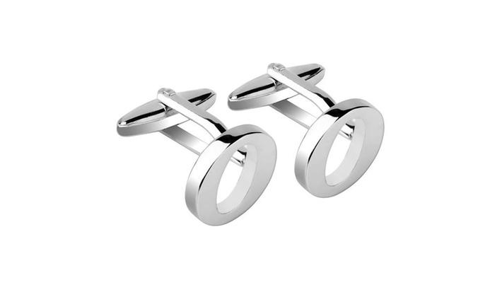 Zodaca Men Initial O Letter Silver Copper Cufflinks Cuff Links